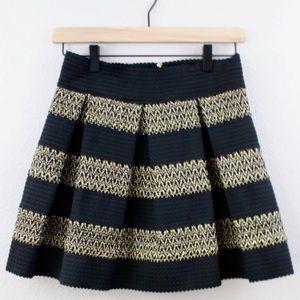 Anthropologie Ginger G skirt black & gold Sz L
